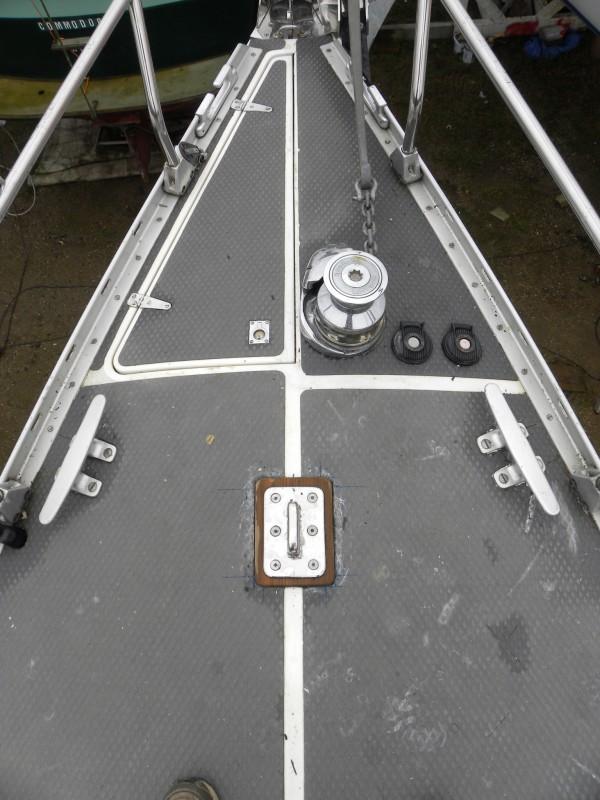 Kuttertagbeschlag an Deck